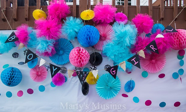 Baby Gender Reveal Party and Free Printables - Marty's Musings
