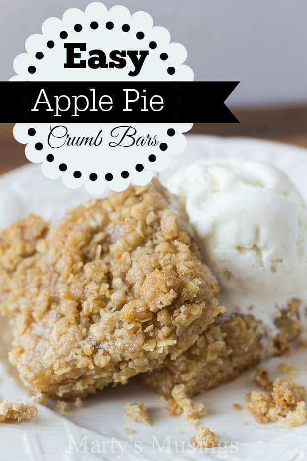 Easy Apple Pie Filling Bars with Crumb Topping - Marty's Musings
