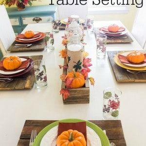 Easy Fall Table Setting Ideas from Marty's Musings