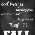 31 Days: Free Chalkboard Printable for Fall