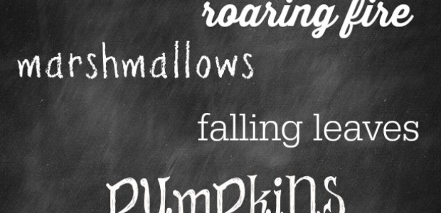 Free Fall Chalkboard Printable from Marty's Musings