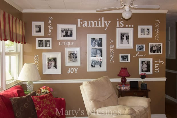 Family Values in Home Decor - Marty's Musings