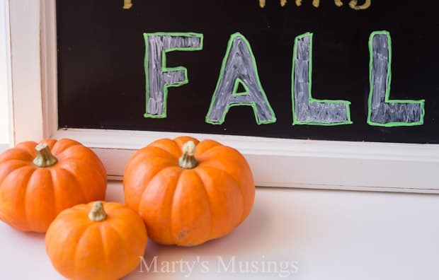 Free Chalkboard Printable for Fall