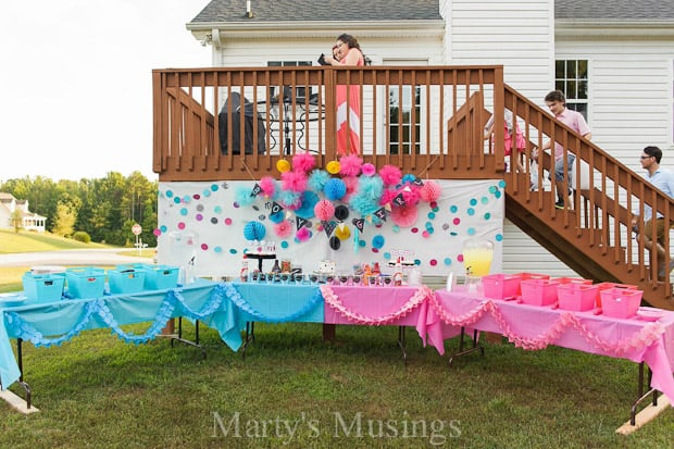 baby gender reveal party and free printables martys musings - Free Printable Gender Reveal Party Invitations