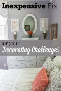 Inexpensive Fix for Your Decorating Challenges - Marty's Musings