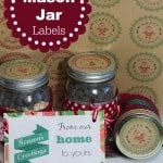Christmas Mason Jar Labels and Printables