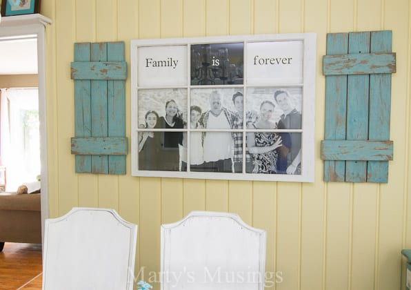 Old window used as photo frame-1