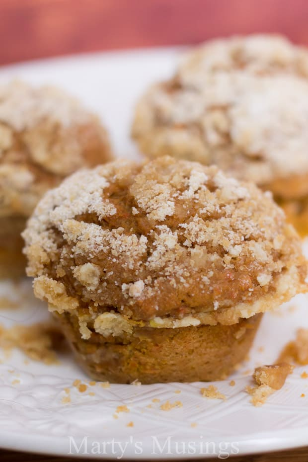 Pumpkin Spice Muffins with Streusel Topping - Marty's Musings