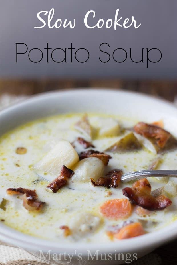 Slow Cooker Potato Soup - Marty's Musings
