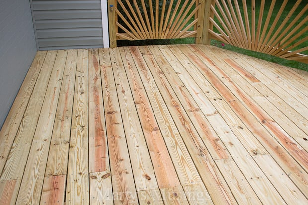 to tell you about our next step with how to stain your wood deck