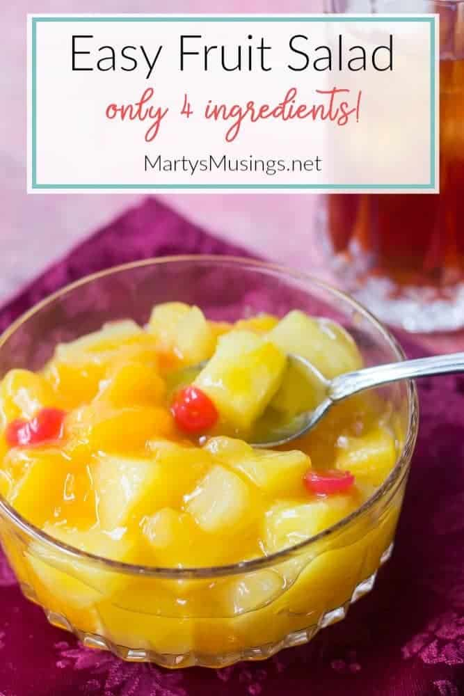 easy fruit salad recipe with only four ingredients