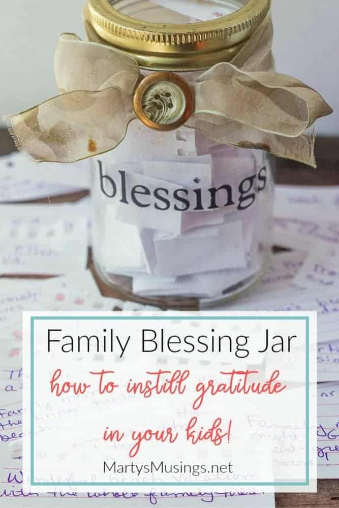 The family blessing jar tradition is a precious way to instill gratitude in your children with the simple act of recording blessings throughout the year.