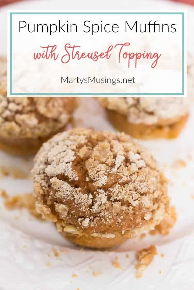 Pumpkin Spice Muffins with streusel topping
