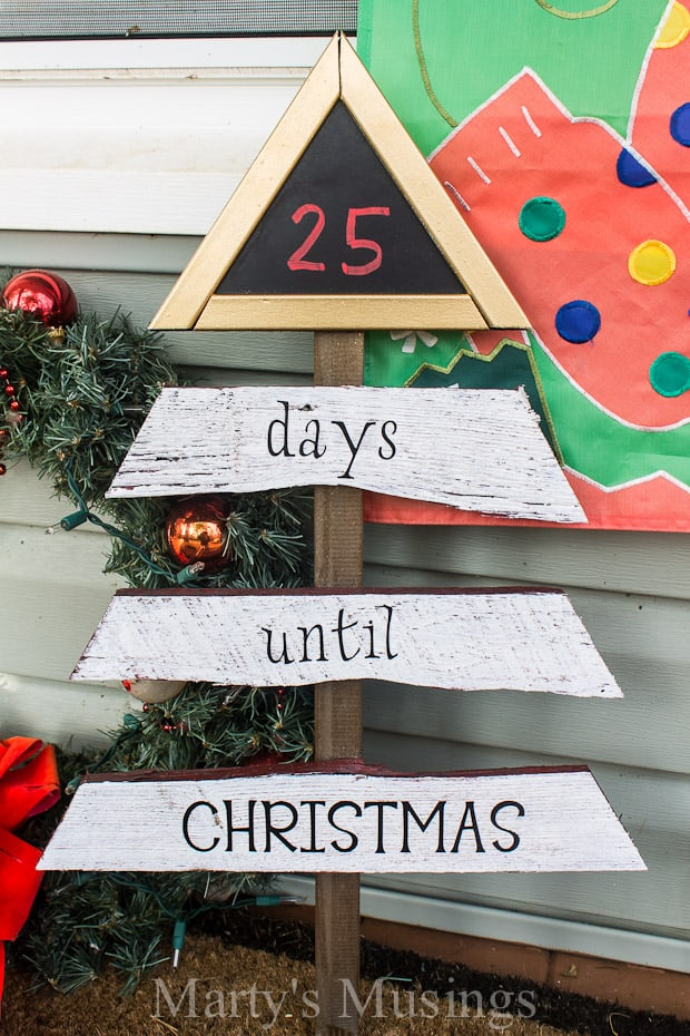 Fence Board Chalkboard Christmas Countdown - Marty's Musings