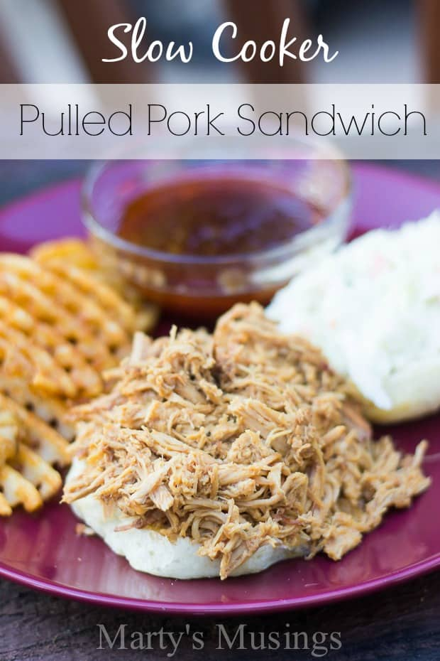Slow Cooker Pulled Pork Sandwiches - Marty's  Musings