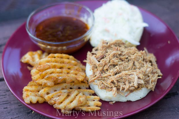 Slow Cooker Pulled Pork Sandwich and Barbecue Sauce