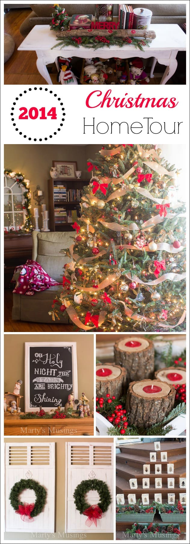 A beautiful home doesn't have to be large or expensive to be charming.  This Christmas home tour is filled with thrifty home decor and easy DIY crafts and projects!