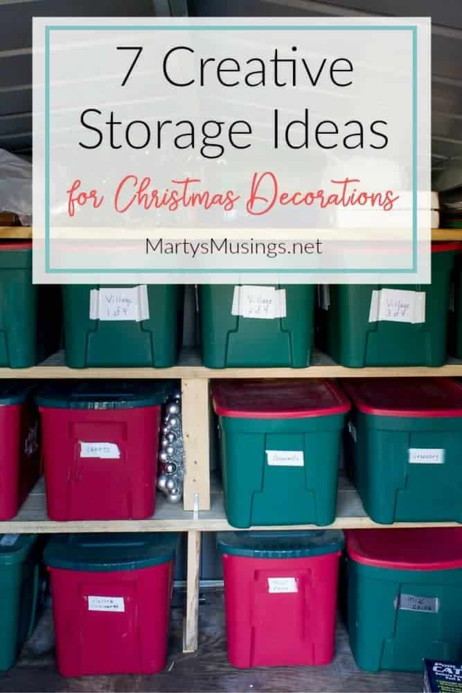 running out of room in your closets these 7 simple and inexpensive storage ideas for - How To Organize Christmas Decorations