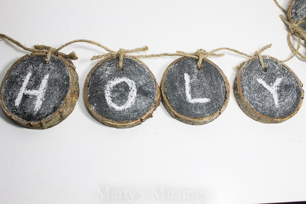 Chalkboard Banner from Wood Slices - Marty's Musing