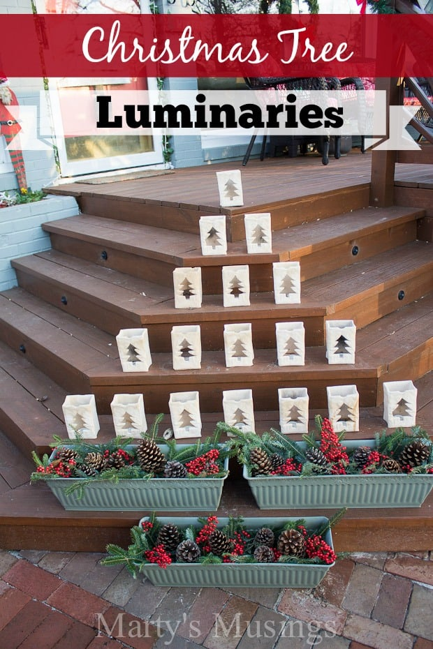 Christmas Tree Luminaries and Outside Decorating - Marty's Musings