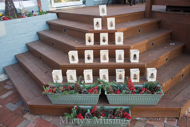 Christmas Tree Luminaries and Outside Decorating
