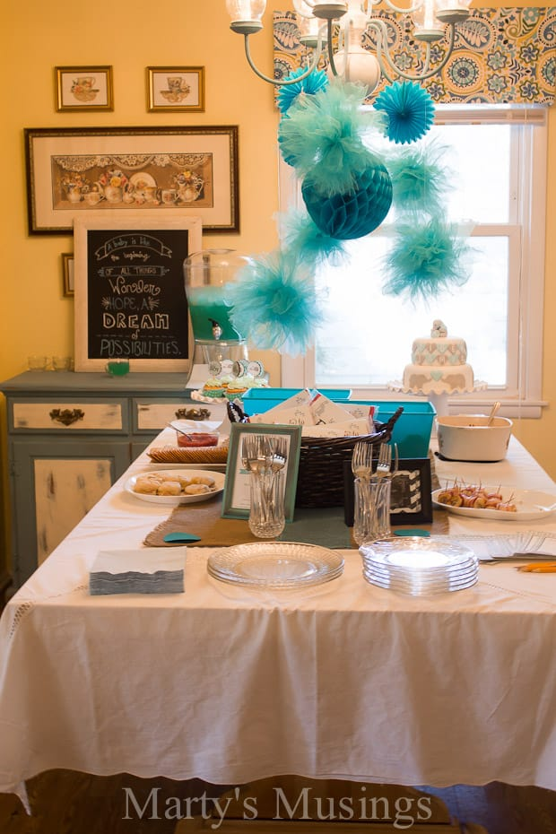 Easy blue frozen punch only three ingredients for Baby shower decoration stores