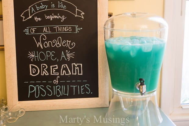 Blue Frozen Punch for any Party! - Marty's Musings