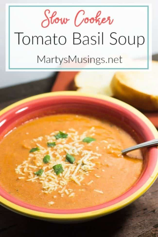 slow cooker tomato basil soup - Marty's Musings