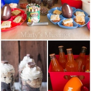 Easy Fudge Brownie Recipe and a Big Game Party - Marty's Musings