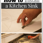 How to Install a Kitchen Sink - Marty's Musings