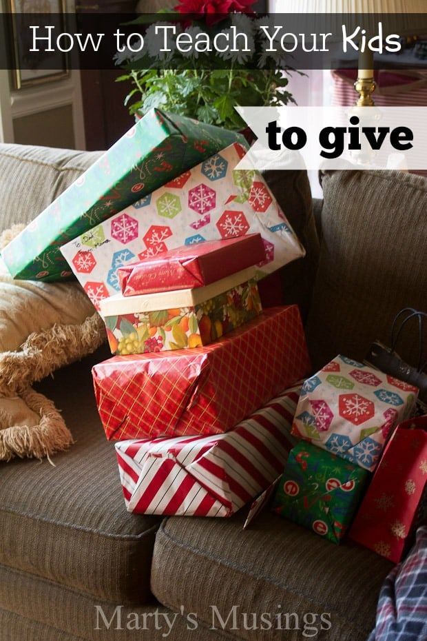 How to Teach Your Children to Give - Marty's Musings