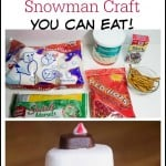 Marshmallow Snowman Craft (that you can eat!)