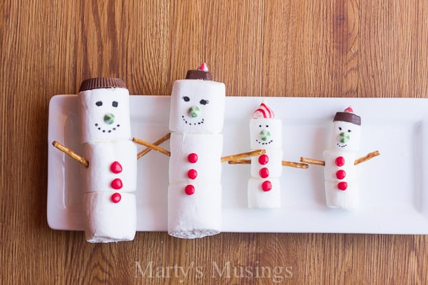 Marshmallow Snowman Craft (you can eat!) - Marty's Musings