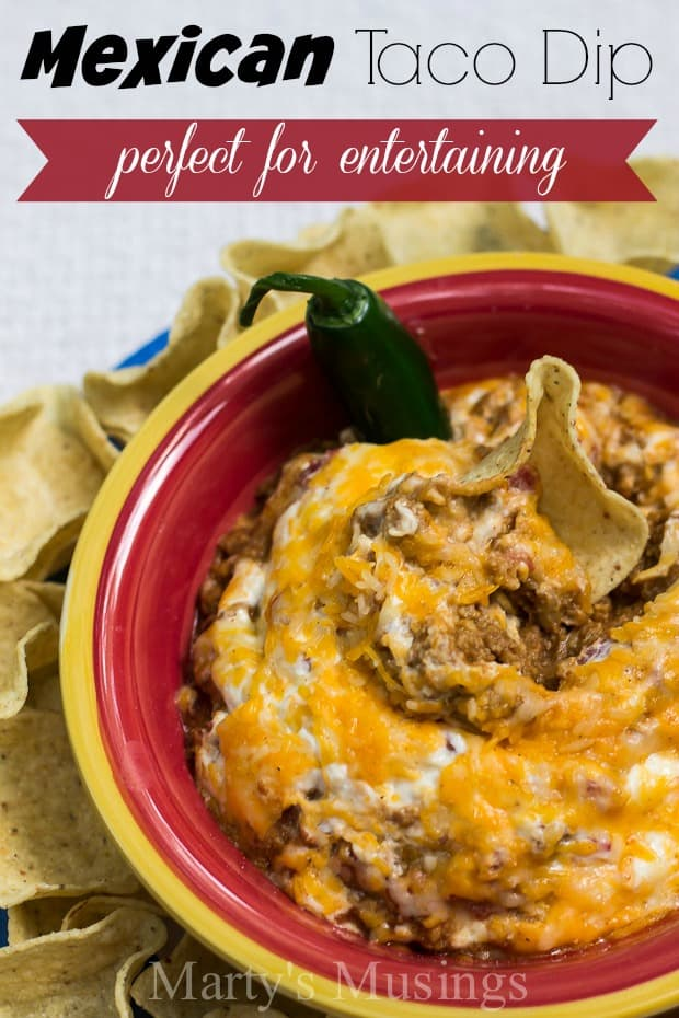 Need an easy dish that you can serve mild or hot and spicy? This Mexican taco dip is the answer and can be thrown together in just a few minutes.