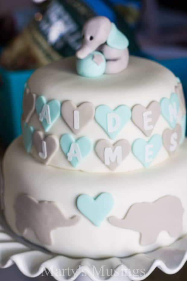 Elephant Baby Shower Cake Youtube
