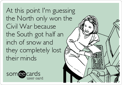 Snow Storm in NC Comic - Marty's Musings