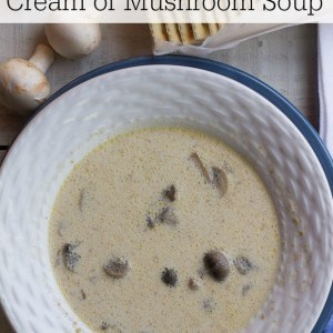 With just a few handy ingredients, this homemade slow cooker Cream of Mushroom Soup from Marty's Musings will delight the entire family and is a tasty budget dinner.