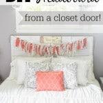 DIY Headboard from a Closet Door