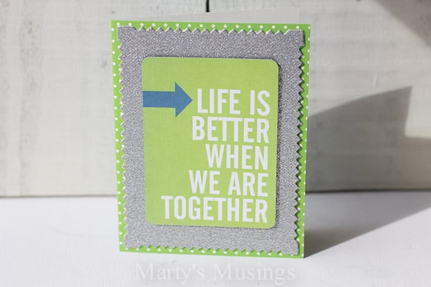Add the perfect touch for a gift or send encouragement and well wishes with these handmade card ideas created under 10 minutes with a Project Life kit.