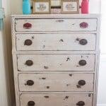 Trash to Treasure: Chalk Painted Dresser