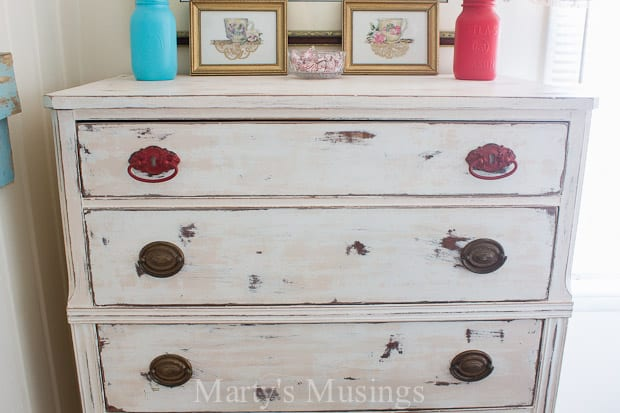 Chalk Painted Dresser on Shabby Chic Painted Furniture