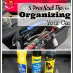 "These 5 helpful tips for organizing your car will help you make sense and streamline all the accumulated ""stuff' that ends up in your car!"