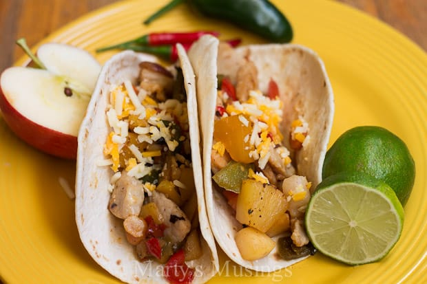 Chicken Fajita Recipe with Fruits and Vegetables