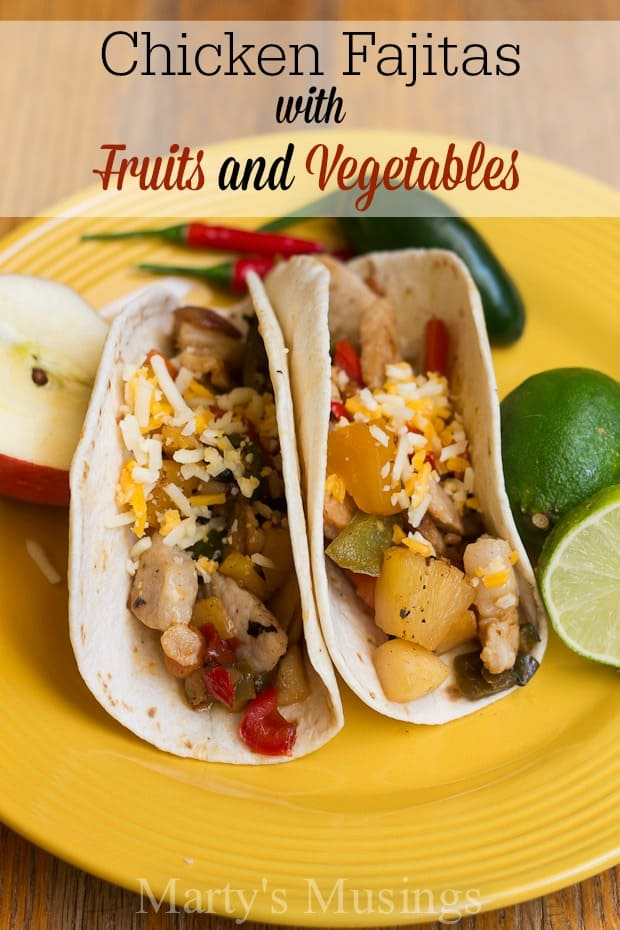 Chicken fajita recipe with fruits and vegetables this delicious chicken fajita recipe made with both fresh ingredients and canned fruit is both tasty forumfinder Gallery