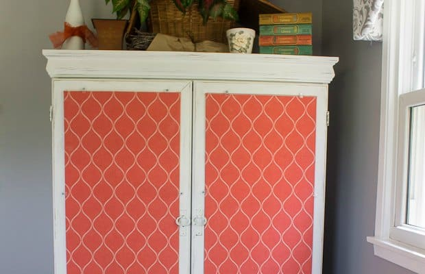 Furniture Makeover with Chalk Paint and Fabric