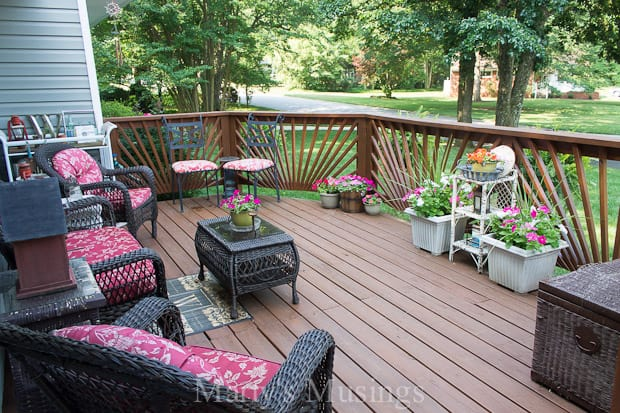Outdoor deck decorating ideassentimento cheap backyard - Decorating a small deck ideas ...
