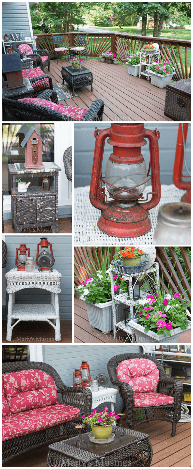 These budget decorating ideas for decks and other outdoor spaces will inspire you to shop yard sales, thrift stores and even curbside for inexpensive treasures to repurpose and update for a beautiful space you will love.