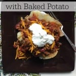 Easy Slow Cooker Chili with Baked Potato