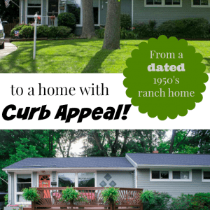 See how these DIY homeowners planned and converted their 1950's ranch style house into an updated home with terrific curb appeal and a fabulous front deck.