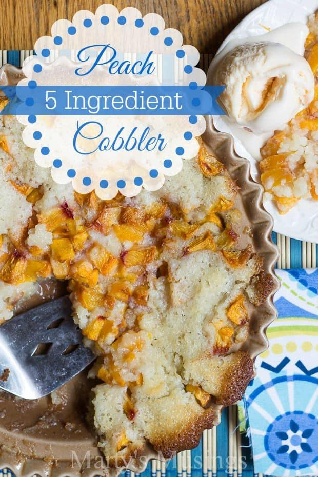 5 Ingredient Peach Cobbler Recipe